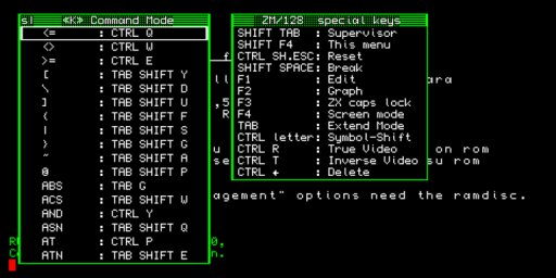 ZM/128 - shortcut menu